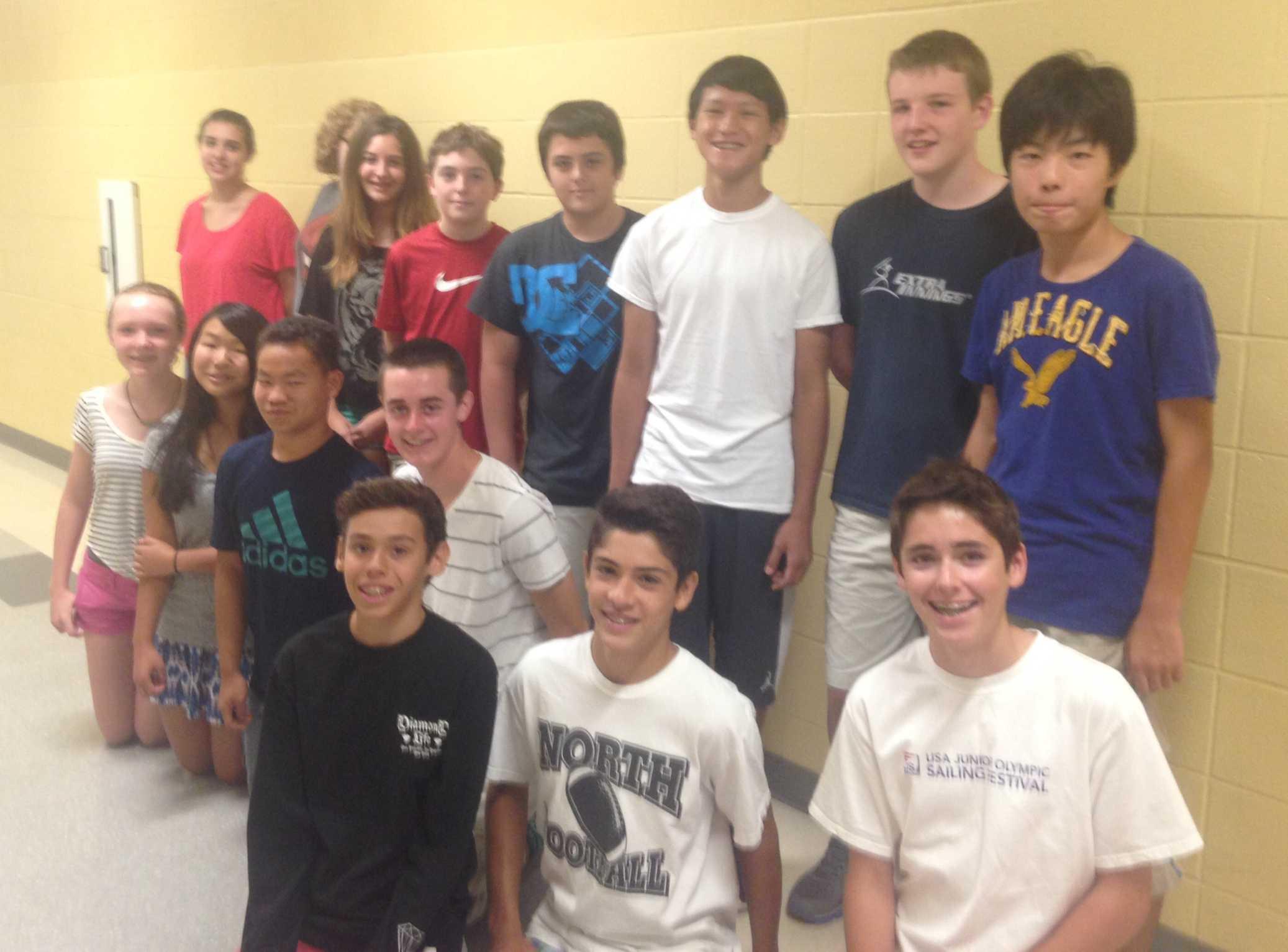 Mr. Mark DeLucia's freshman advisory at NKHS