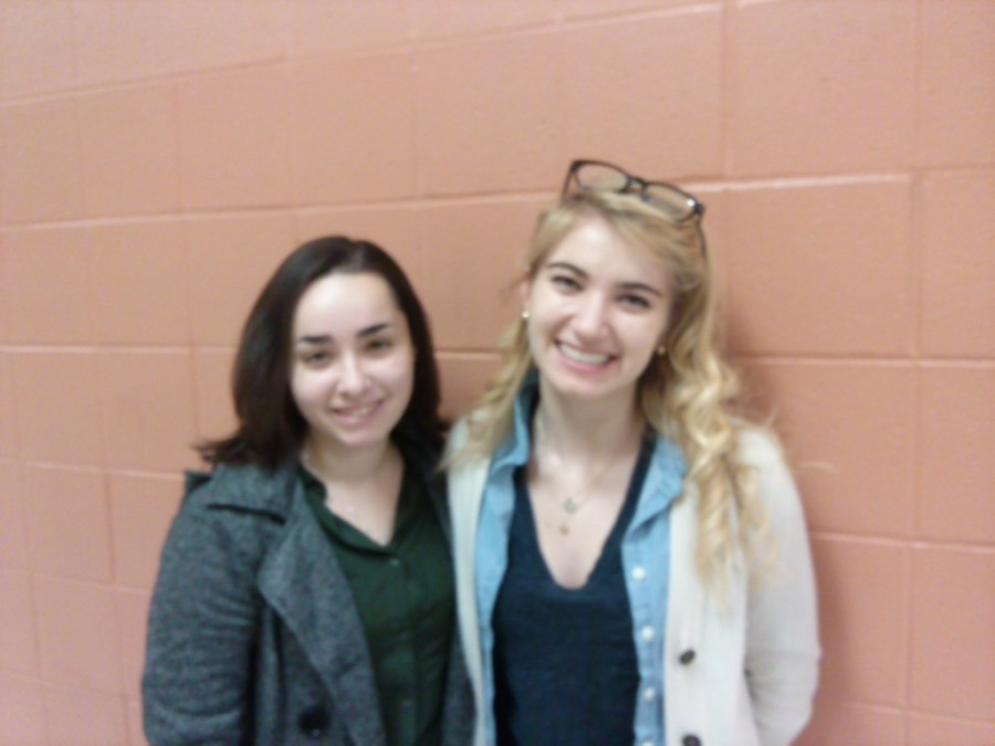 Seniors+Erin+Chille+%28left%29+and+Laura+Creese+%28right%29+are+co-presidents+of+Student+Government.+