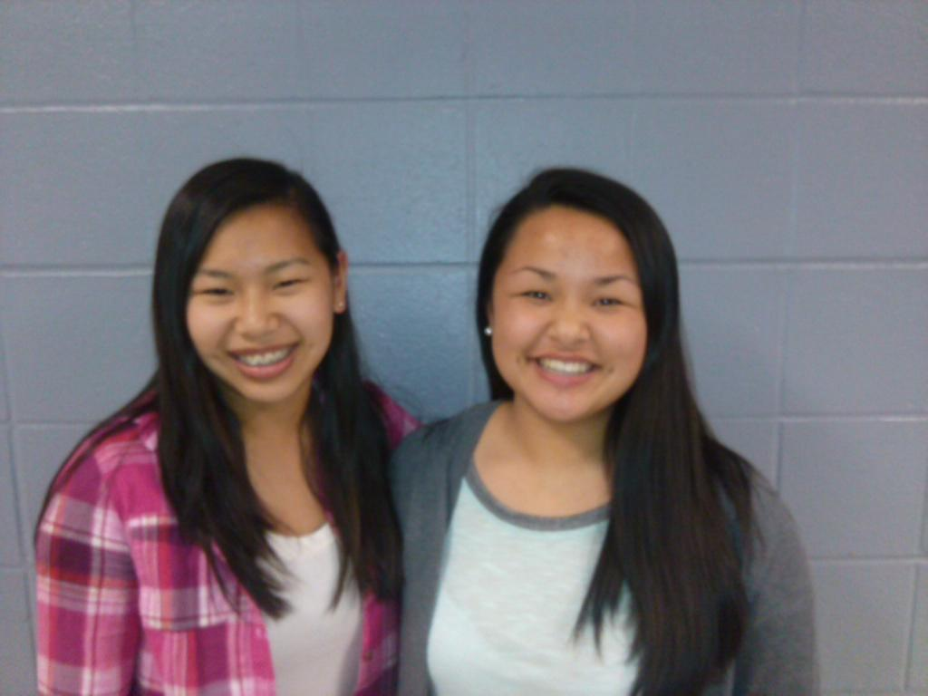 Sophomores Quillyn Smith (left) and Elizabeth Pekar (right) were both adopted from China.