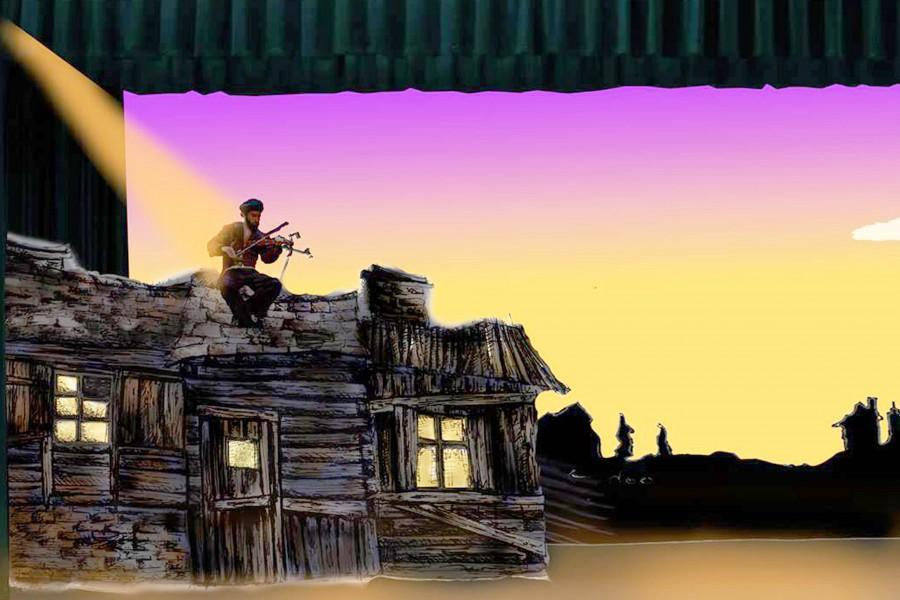 Opening the stage for Fiddler On The Roof