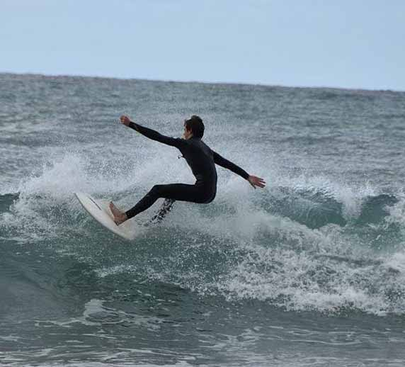 Senior, Zack Queralla plans on hosting a surf clinic. He has been surfing since middle school and fully believes its his life passion.