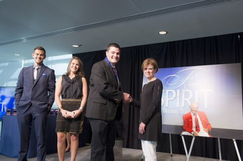 I, Jacob Maguire, receive my diploma from Jan Neuharth (right) at the Newseum on June 22 for successfully completing the conference. AJ (left) and Dani Neuharth-Keusch (second from left) are also pictured.