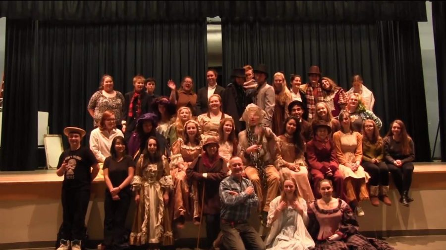 Members+of+the+cast+of+%22A+Christmas+Carol%22+pose+for+a+photo+during+one+of+their+dress+rehearsals.+