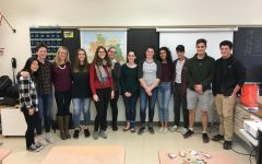 Lea and Martina, two German university students came to talk to German 1 and 3/4 to talk to German class about their life and studies in Germany.